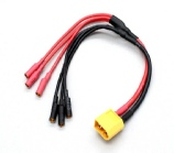 XT60 to 3 X 3.5mm bullet Cable